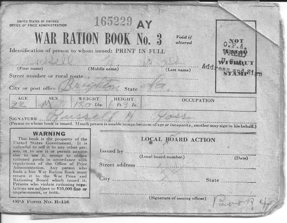 7. Dad's War Ration Book